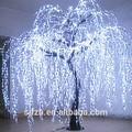 ingrosso di natale al coperto festa decorazione artificiale salice bianco con led per Lakeside salice piangente albero illuminazione