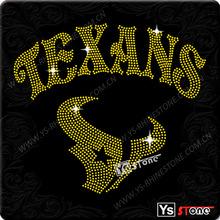 Garment decoration hockey rhinestone texans