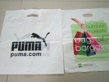 Plastic Punch Hole bag shopping bag