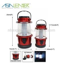 Super bright portable Two models 16/18 LED Oak barrel shape led camping lamp