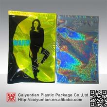 aluminum foil Women jeans plastic bag with zip lock/Baby jeans plastic packaging bag