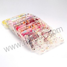 Plastic Printing Flowers Surface +Transparent TPU Frame Colorful Back Case for iPhone 5 5S