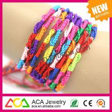 wholesale low MOQ fashion fancy friendship string bracelets for sale