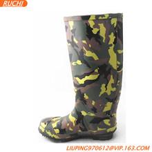2014 Popular camo men outdoor rubber work rain boots RTR001