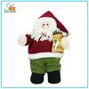 "11"" Christmas Fabric Santa Claus Decoration Holding Gift Bag"