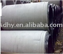 PVC membrane lining for reinforced concrete drainage pipes