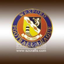 China badge maker, color paint enamel round badge