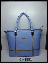 baby blue metal gripping rim women's handbag