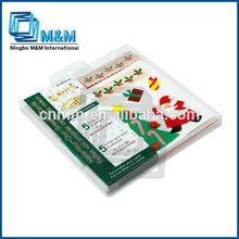 คริสมาสต์diy3dการ์ดอวยพรวันเกิดบัตรทำด้วยมือชุด