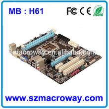 Customize OEM Intel H61 LGA1155 ITX Mainboard with 9*usb 2.0