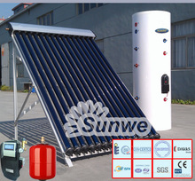 Haining Sunwe Split Pressure Solar Water Heater Heat Pipe Solar Collector Pump Station Expansion Vessel Element Booster Made In