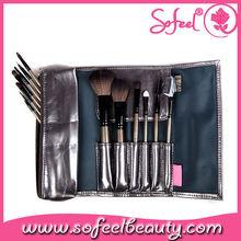Sofeel high quality 12pcs makeup brush set wood handle brush set synthetic hair brushes