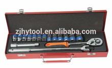 "1/2"" 16 pcs Car Repairing Metric Socket Set"