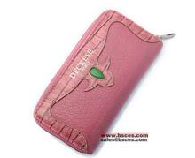 2015 الموضة العصرية سيدة الوردية جوهرة حجر زينت مفتاح سستة المحفظة