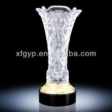 Beautiful Flower Vase Crystal Trophy Cup