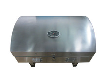 HGG2002U foldable camping gas grill witt round lid and stainless steel grill grate