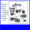 Full duplex 500m Bluetooth Intercom for motorcycle helmet 3 rider