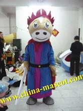 cavalo de samurai trajes da mascote