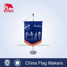 promotional display custom table flag for podium flag, table flag stand