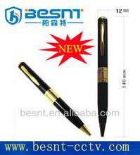 BESNT cheapest Pen camera with sd card slot, portable pen mini DV camera Sliver Pen Mini hidden dvr camera BS-723