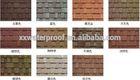 High quality 3-tab Grey/Red/Brown/Black/Green/ asphalt shingles