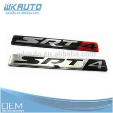 new aluminum custom design 3d SRT4 car sticker emblems