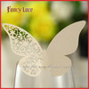 Hot Sale Laser Cutting Wedding Decorations Name Place Cards Butterfly Design Wine Glass Card Unique Wedding Party Favors