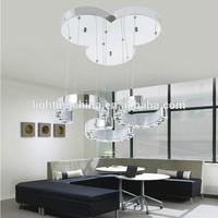 modern silver LED floor lamp K9 crystal led suspension light