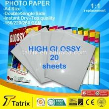 Premium factory supply glossy photo paper 210g/ premium inkjet photo paper/ wholesale photo paper