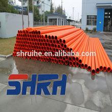 electrical pipe rigid orange underground 8 inch prices upvc tube fittings