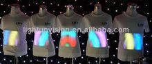2014 new design customized el panel shirt/el panel t shirt led shirt woman and man