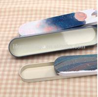 oval shape pencil box/tin pencil cased/ stationery storage tin box