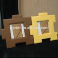 Dupla face quadro de imagem, folding frame da foto, couro do plutônio moldura