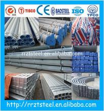 hs code carbon round steel pipe/galvanized balcony railing hs code carbon round stell