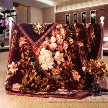 Super Soft 100% Polyester Printed Flannel Fleece Blanket