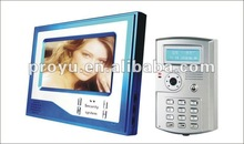 china cheap and hot selling 7 inch TFT plastic camera video door phone for villa unlock by ID card, password, key PY- V7D-K