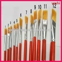 12PC Acrylic Paints Artist paint brush set Drawing pencils Brush 12PCS