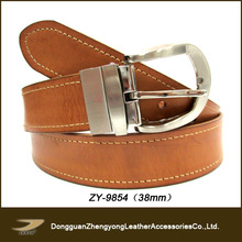hot sale men leather belts with changeable buckles