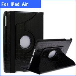 360 Degree Rotate Custom Logo Leather Case Stand For ipad Air iPad 5
