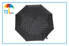 Black Automatic Folding Promotional Umbrella Color Change Logo For Packet