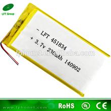 deep cycle 451834 samall rechargebale lithium polymer battery 3.7v 230mah