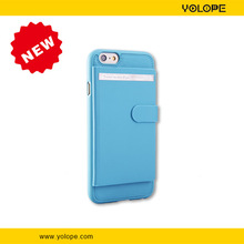 High Quality Magnetic Auto Wake/Sleep Wallet Cardslots Real Leather Folio Ultra Thin For iphone 6 Case