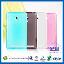 C&T Flexible clear gel tpu case for asus zenfone 5