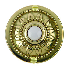 Brass finished round doorbell switch push button 1650
