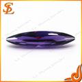 preço de fábrica sintético colorido marquise de vidro baixo preço gemas cz pedra