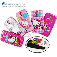 Mobile phone accessories factory in China cute animal design water decal silicone combo case for Samsung Galaxy S4 i9500