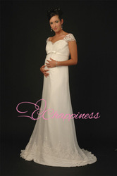 maternity wedding dresses lace embroidered wedding gowns bridal gown for pregnant