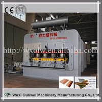 Machine to polish wood floor moulding hot press machine