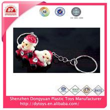 hot selling wholesale plastic christmas santa key for promotion