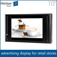 flint stone 10 inch display advertising screen usb /China advertising equipment